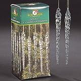 Kurt Adler 5-1/4-Inch Glass Icicle Ornament 36-Piece Box Set