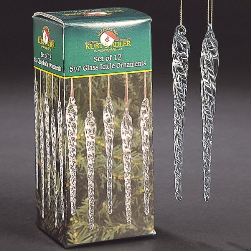 Kurt Adler 5-1/4-Inch Glass Icicle Ornament 48-Piece Box Set