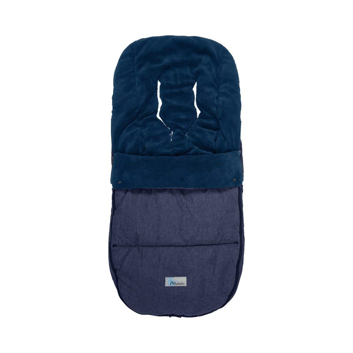 Altabebe Al2280p 49 Winterfußsack Travel Geeignet Für Bugaboo Und Joolz Blau Marine Baby