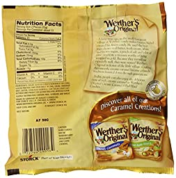 Werther\'s Original Creamy Caramel Filled Hard Candies, 5.5-Ounce Bags (Pack of 12)