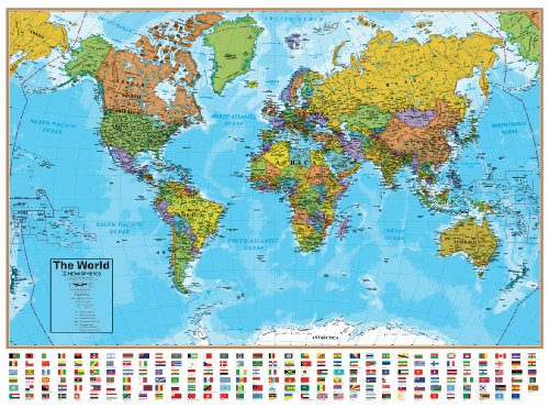 Hemispheres World Map (Hemisphere Map)