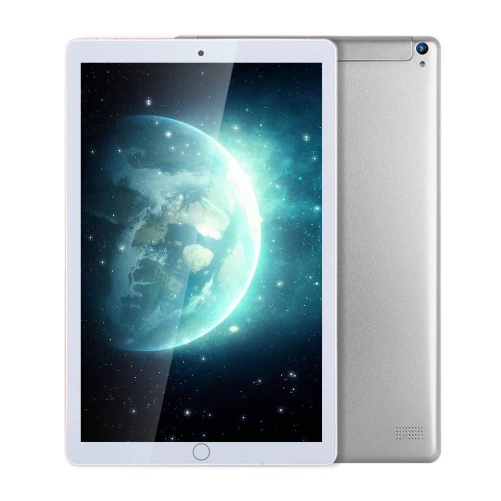 10.1インチタブレットAndroid 6.0対応デュアルSIMカード、3Gコール、WiFi、ブルーティース、マイクロHDMI、マルチタッチIPSスクリーン、OTG機能 B07KWN8TM3 シルバー(2 + 32G) シルバー(2 + 32G)