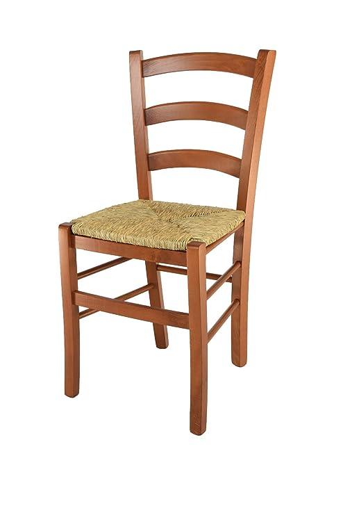 Tommychairs sillas de Design - Set 1 Silla Modelo Venice para Cocina,  Comedor, Bar y Restaurante, con Estructura en Madera Color Cerezo y Asiento  en ...