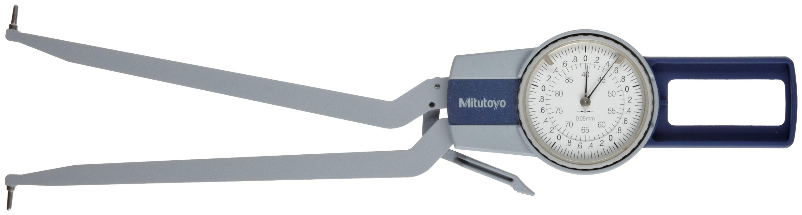 Mitutoyo 209-300 Caliper Gauge, Pointed Jaw, White Face, 2.5-12.5mm Range, +/-0.015mm Accuracy, 0.005mm Resolution, Meets IP65 Specifications by Mitutoyo
