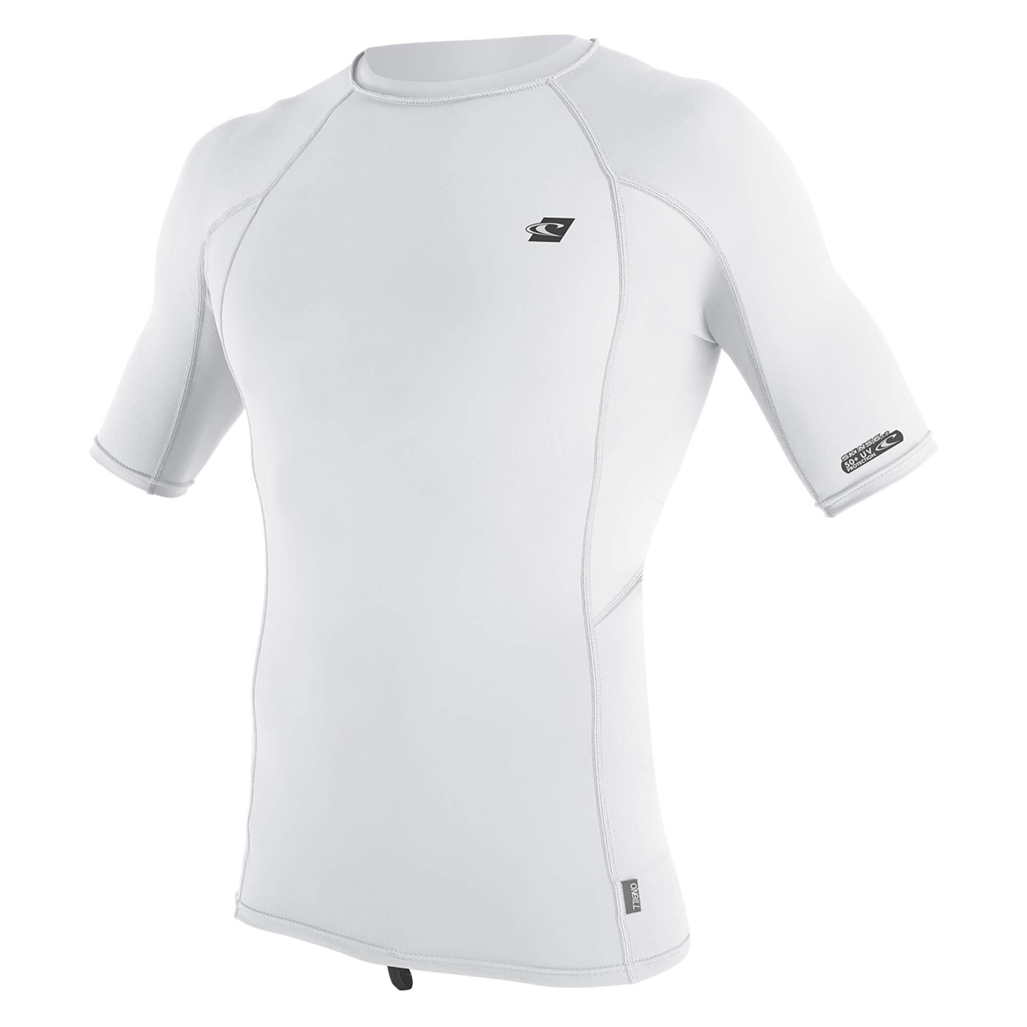 O'Neill Men's Premium Skins UPF 50+ Short Sleeve Rash Guard, White, Large by O'Neill Wetsuits