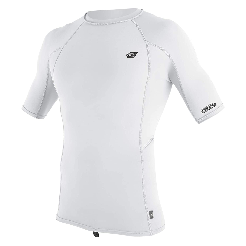 Blanc XL O'Neill pour Homme Premium Skins UPF 50 + Rashguard à Manches Courtes pour
