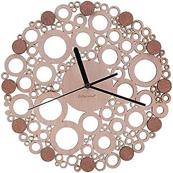 Giftgarden Modren Art Wall Clock Wooden Decor for Housewarming Gift