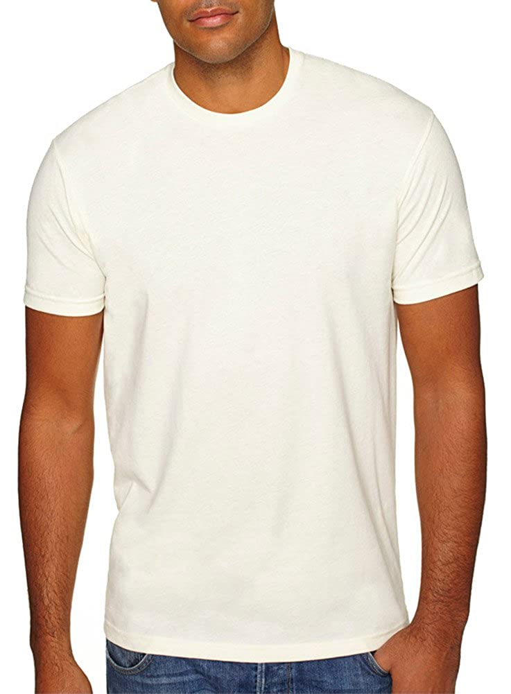 Natural Large Next Level Mens Premium Fitted Sueded Crew