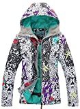 APTRO Women's Windproof Waterproof Bright Color Ski&Snowboarding Jacket Wild Printing Size M