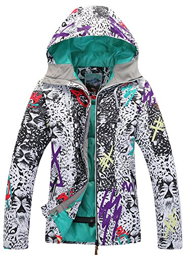 APTRO Women's Windproof Waterproof Bright Color Ski&Snowboarding Jacket Wild Printing Size S