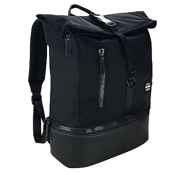 Firetrap Roll Top Backpack Black Bag Holdall Carryall Rucksack Knapsack One  Size ede70c42b9613