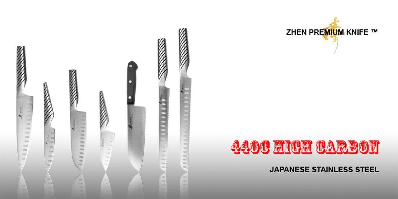 amazon com zhen japanese steel 8 inch chef u0027s knife and 7 inch