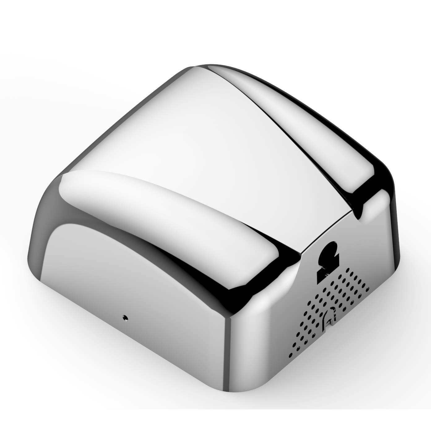Commercial Bathroom Hand Dryer, Polished Stainless Steel Shell, Powerful 1800W - Dry Hands in 10s, Low Noise 70 dB, Set of 1 Commercial Hand Dryer
