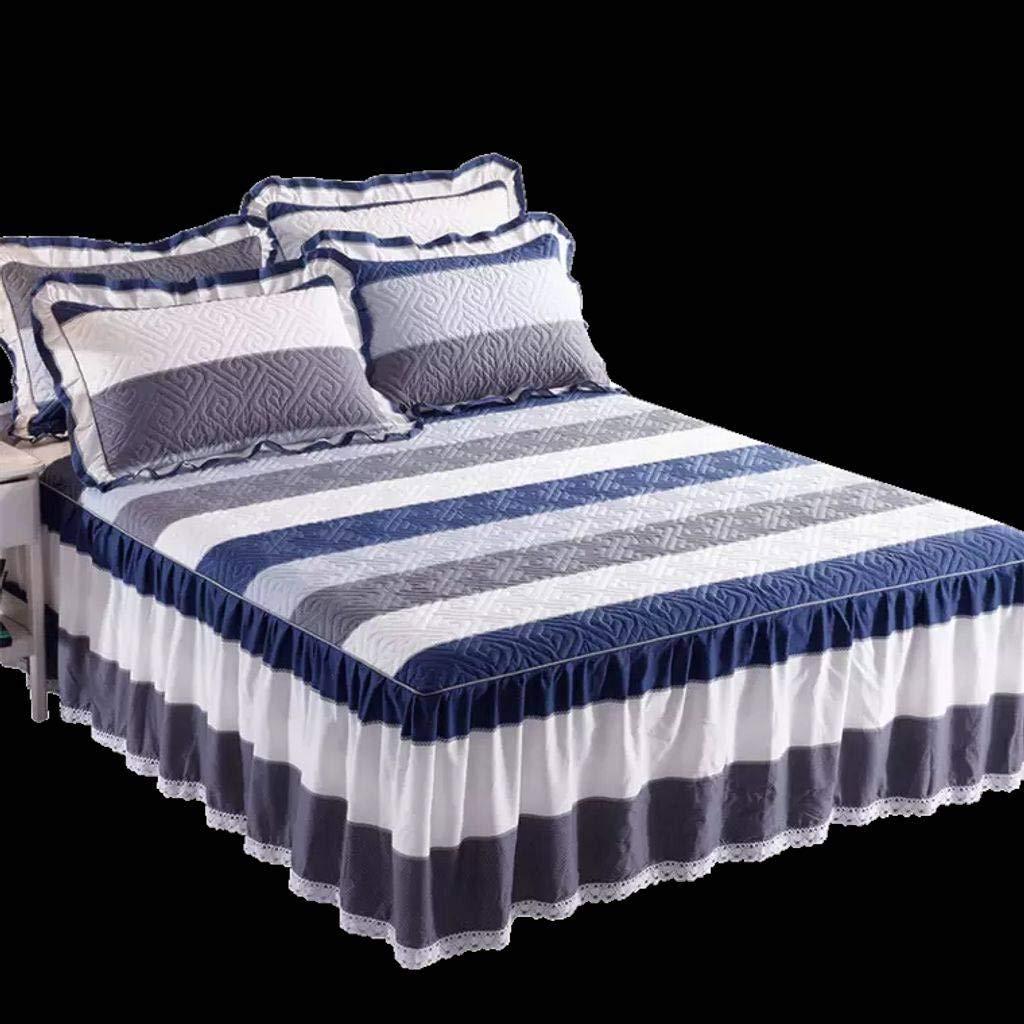 QXJR フリル ベッドスカート,ベッドカバー,綿 シート 耐フェード いベッドスカート シングル 装着が簡単 ベッドシーツ ベッド用品-M-200×220センチメートル-2 B07Q8VXMRF M 200×220センチメートル-2