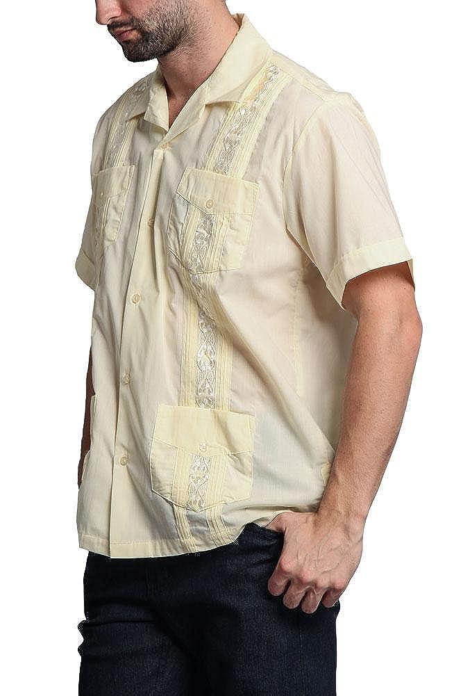 G-Style USA Mens Cuban Guayabera Long /& Short 4 Pocket Cotton Blend Shirt