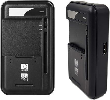 Amazon.com: Lrker Universal USB Wall Travel Spare Battery ...