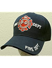 Infinity Superstore Navy Blue Fire Fighter FD Department Fighters Emblem Hat Cap