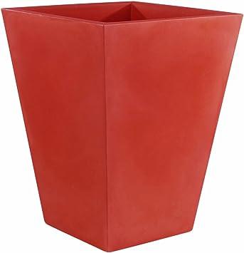 Couleur Rouge Vondom 41214//à Pot de Fleurs c/ône carr/é Haut Nano Basic de 14/x 14/x 28/cm