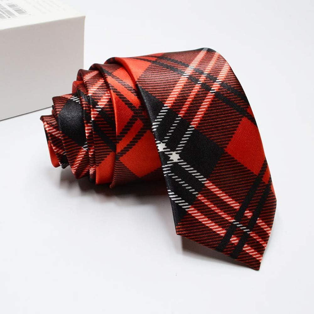 Wangwang454 Corbata Estrecha Estrecha para Hombre Corbata ...