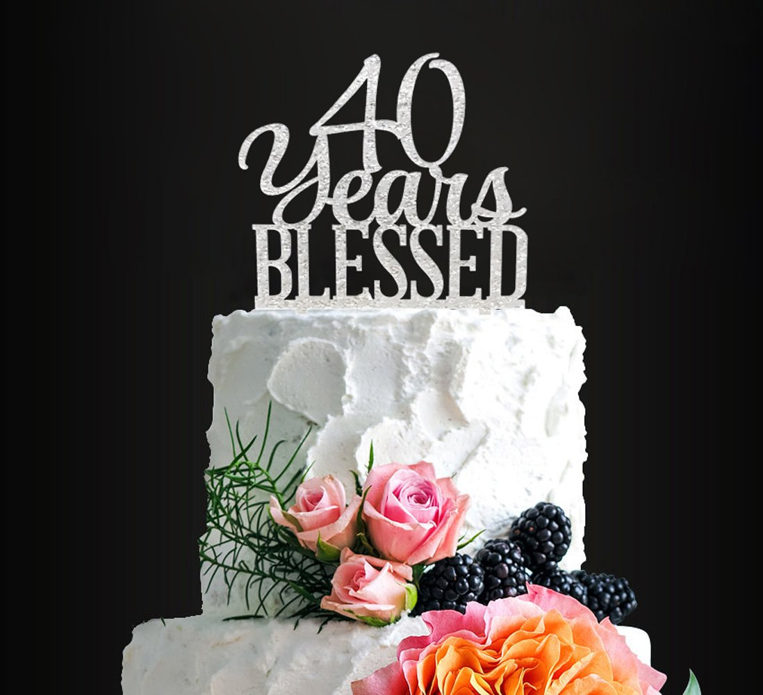 Stupendous Silver Acrylic Custom 80 Years Blessed Cake Topper 80Th Birthday Personalised Birthday Cards Beptaeletsinfo