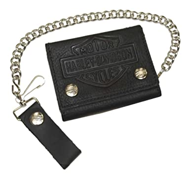 Amazon.com: Harley-Davidson Bar & Shield Tri-Fold Biker ...