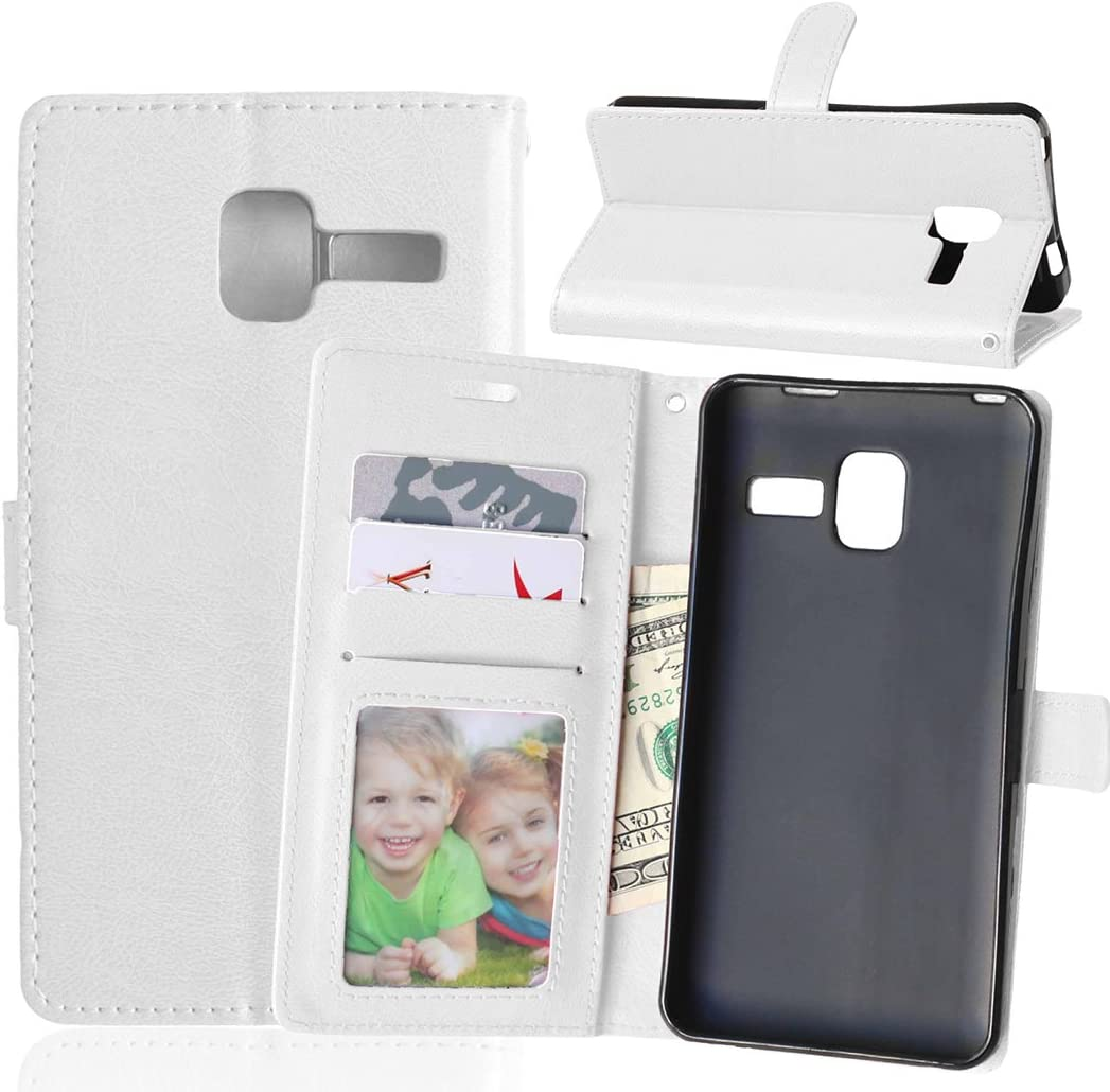 Case For Lenovo A850 plus A850+ ,PU Leather Protection 3 Card Slots Wallet Flip Case Cover-White