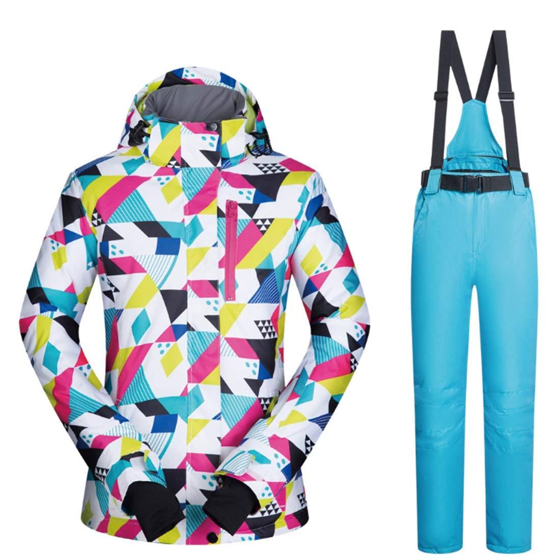 ALICESHOP ウィメンズジャケットウインターガールコートアウトドアスポーツドレススキージャケット防風&防水(s-xl) (色 : 04, サイズ : XL)  X-Large
