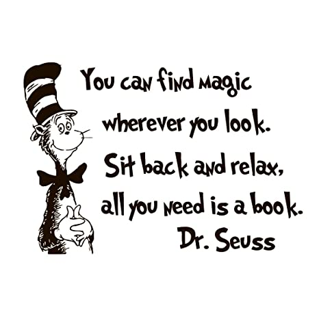 Dr Seuss Wall Decal Quote Vinyl Sticker Decals Quotes You Can Find