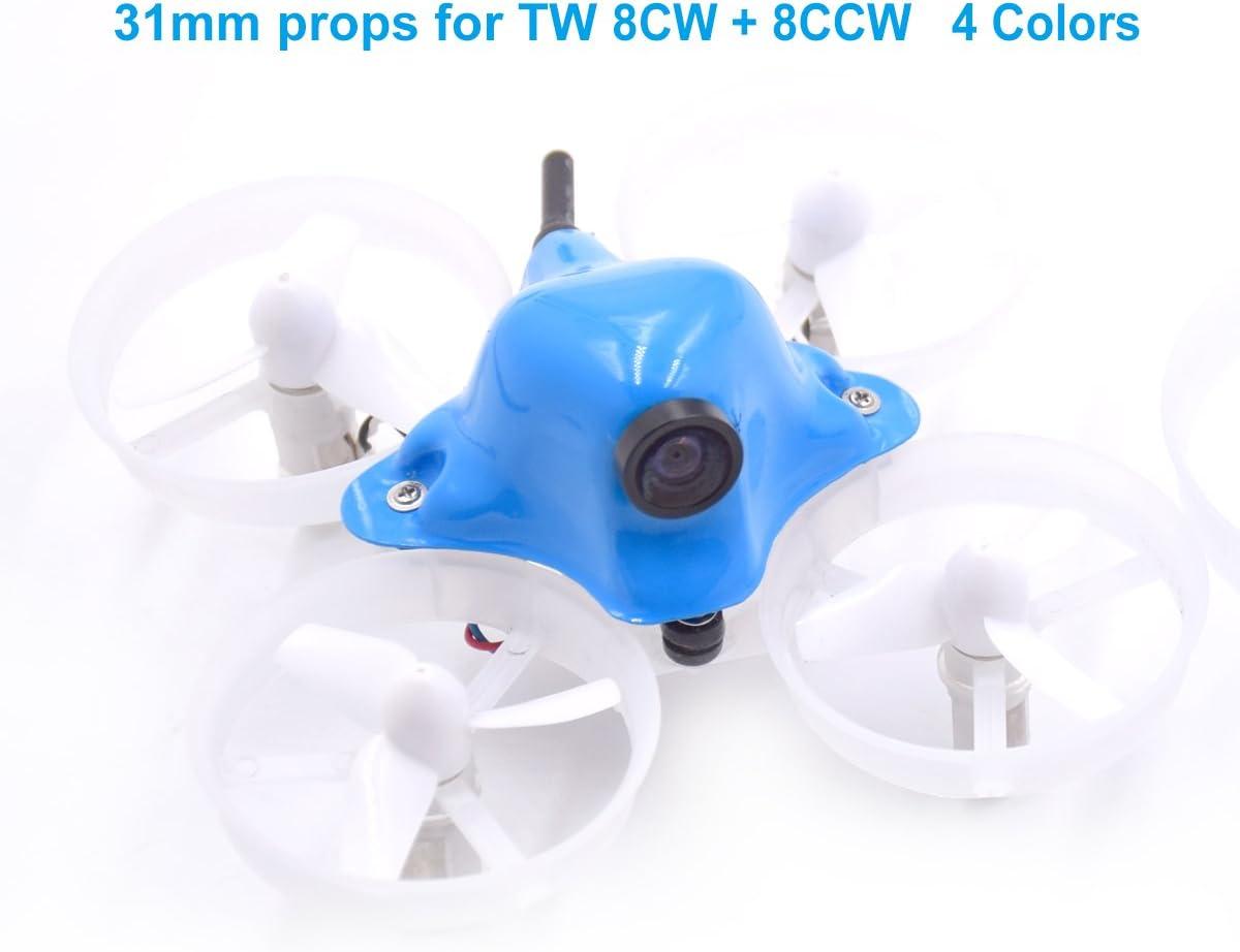 4 Blatt Tiny Whoop Propeller 2xCW 2xCCW für Micro Racer 615-720 Brushed Motor