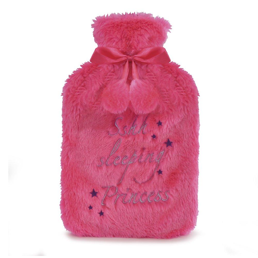Kids Novelty Soft Brushed Fleece Covered Hotwater Bottle Pink