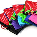 Reusable Shopping Tote Bag - Folded into a Strawberry - ** Various Colors **