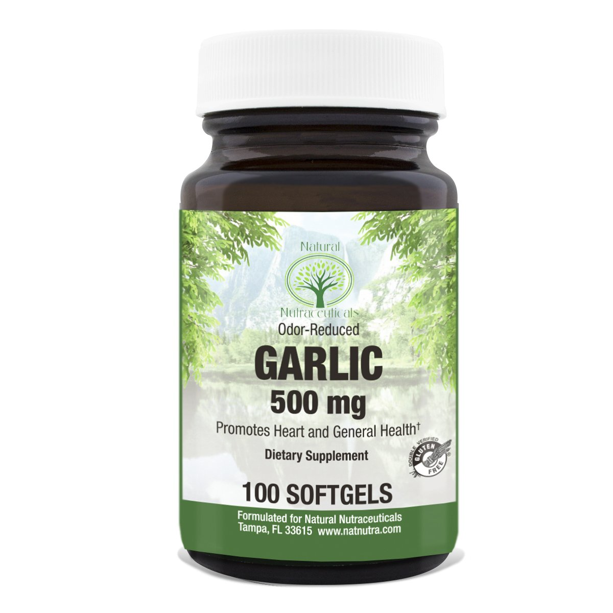Natural Nutra Odorless Garlic Extract – 100 Capsules, 500 mg: Allium Sativum – Supplement Supports Healthy Blood Pressure, Heart Health, Boosts Immune System
