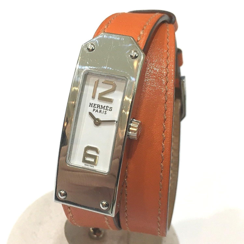 (エルメス) HERMES KT1.210 ケリー2 ドゥブルトゥール レディース腕時計 腕時計 SS/革(レザー) レディース 中古 B079VXRBJ8