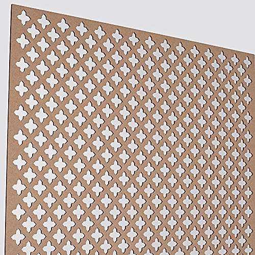 Mdf Decorative Panels (American Pro Decor 72 in. x 24 in. x 1/8 in. Unfinished Cross Decorative Perforated Paintable MDF Screening Panel Insert)