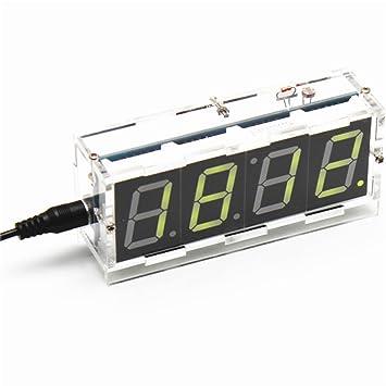 Next DIY seven-segment de 4 dígitos pantalla digital control de luz reloj de mesa Kit (amarillo luz) ard0799: Amazon.es: Electrónica