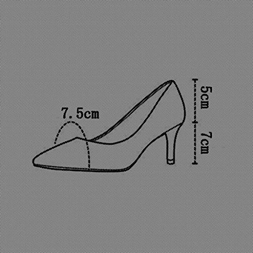 MUMA Escarpin Hot Wind 2018 printemps nouveau doux Lady Cross ceinture Casual chaussures conseils Shallow bouche chaussures (Couleur : Rose, taille : EU36/UK3.5/CN35) Rose