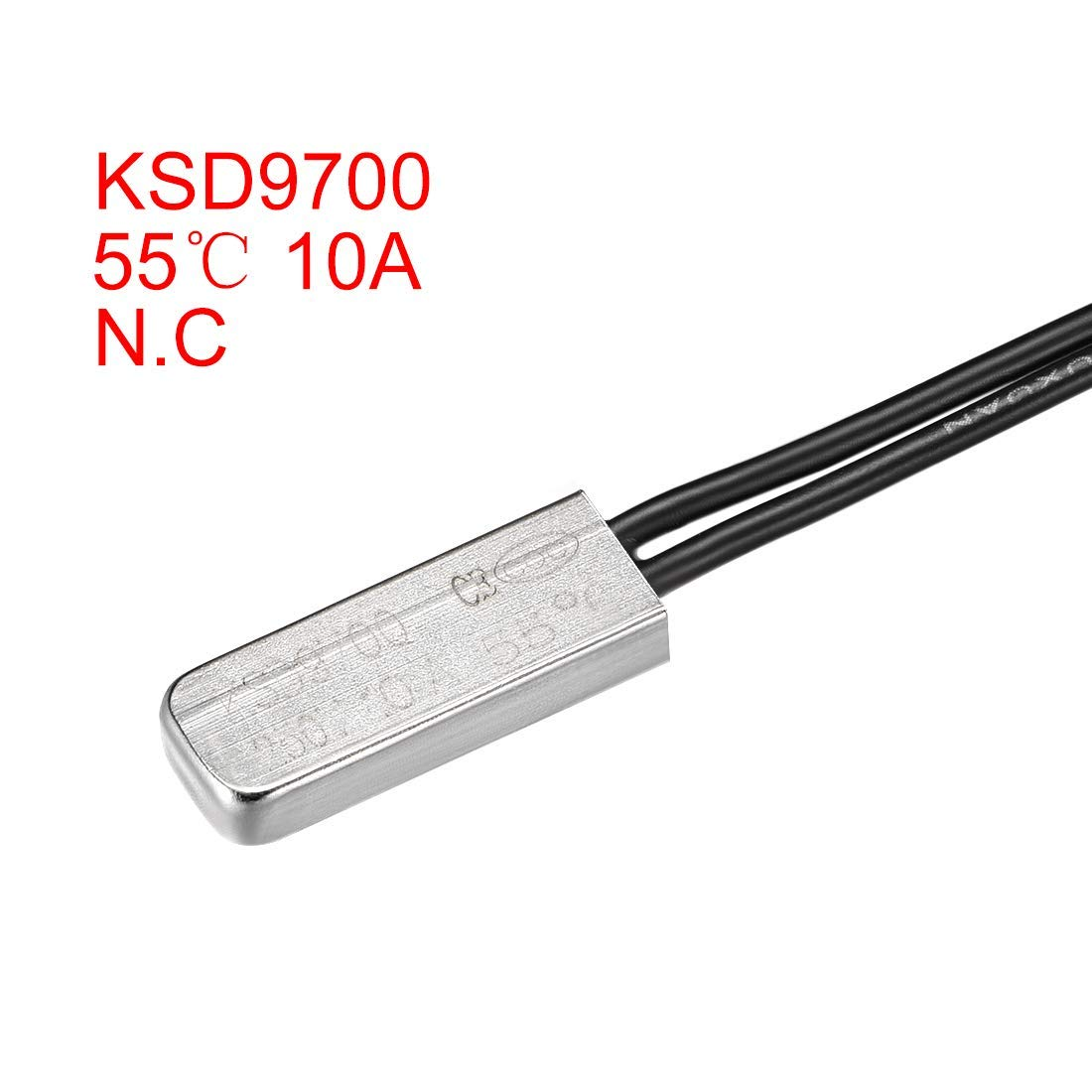 KSD9700 Termostato N.C 10 A interruptor t/érmico metal bimetal 2 unidades controlador de temperatura 55 /°C Normalmente cerrar interruptor t/érmico