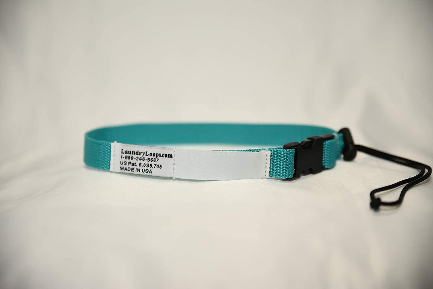 Laundry Loops with Sock Snare, Premium Turquoise Laundering Strap