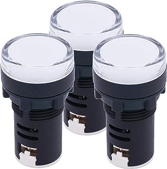 Lot of 5 24V AC//DC 22mm WHITE LED Indicator Lamp Signal Light AD16-22DS