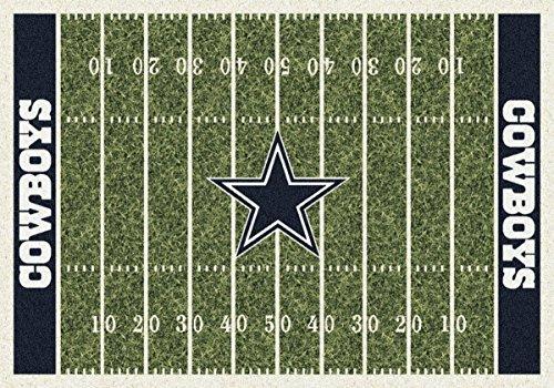 Cowboys Dallas Football Rug Spirit - Dallas Cowboys NFL Team Home Field Area Rug by Milliken, 5'4