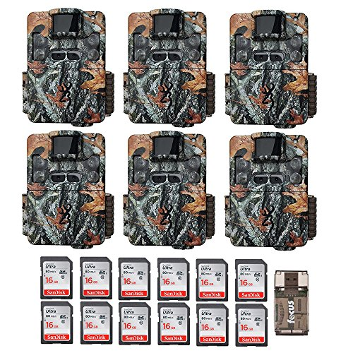 Six Browning Strike Force Pro XD Dual Lens 24MP Trail/Game Cameras with 12 16GB Cards and Focus USB Reader Review