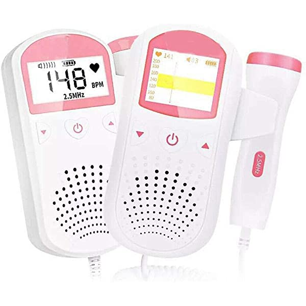 danqianzhubao Pregnant Women Home Radiation-Free Stethoscope fetal Heart Rate Monitor fetal Heart Rate,Portable Home Use Baby Sounds Listener Baby Monitor Sound Amplifier Heart Instrument White