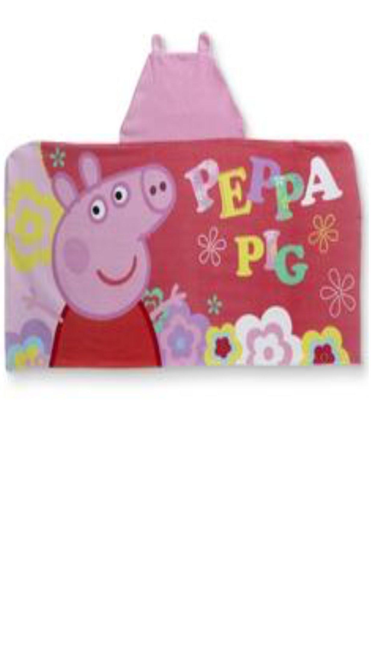 Peppa Pig Hooded Towel for Bath, Shower, Pool, Beach