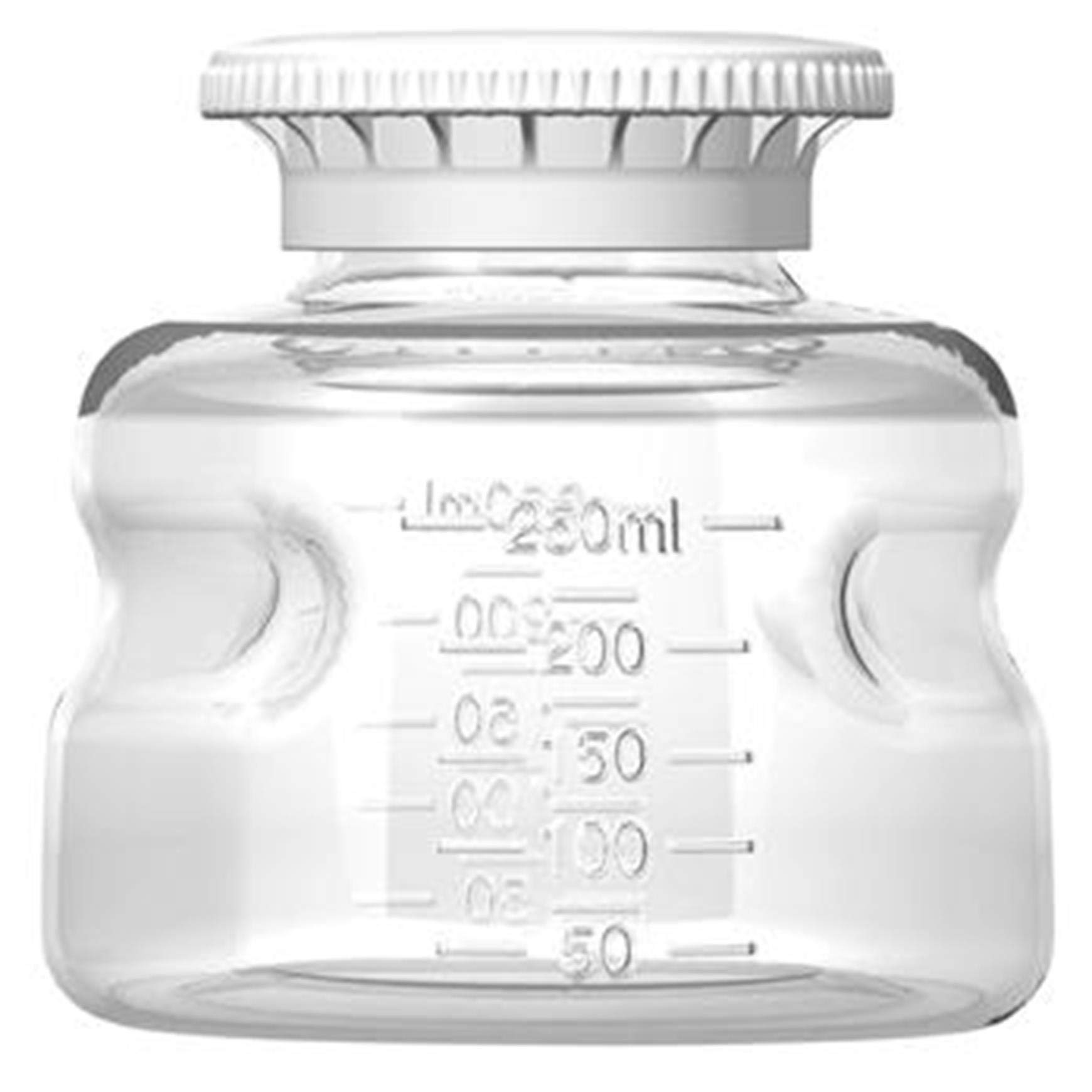 Autofil Polystyrene Non-Sterile Disposable Media Bottle with Polypropylene Cap, 250ml Volume (Pack of 24) by Foxx Life Sciences