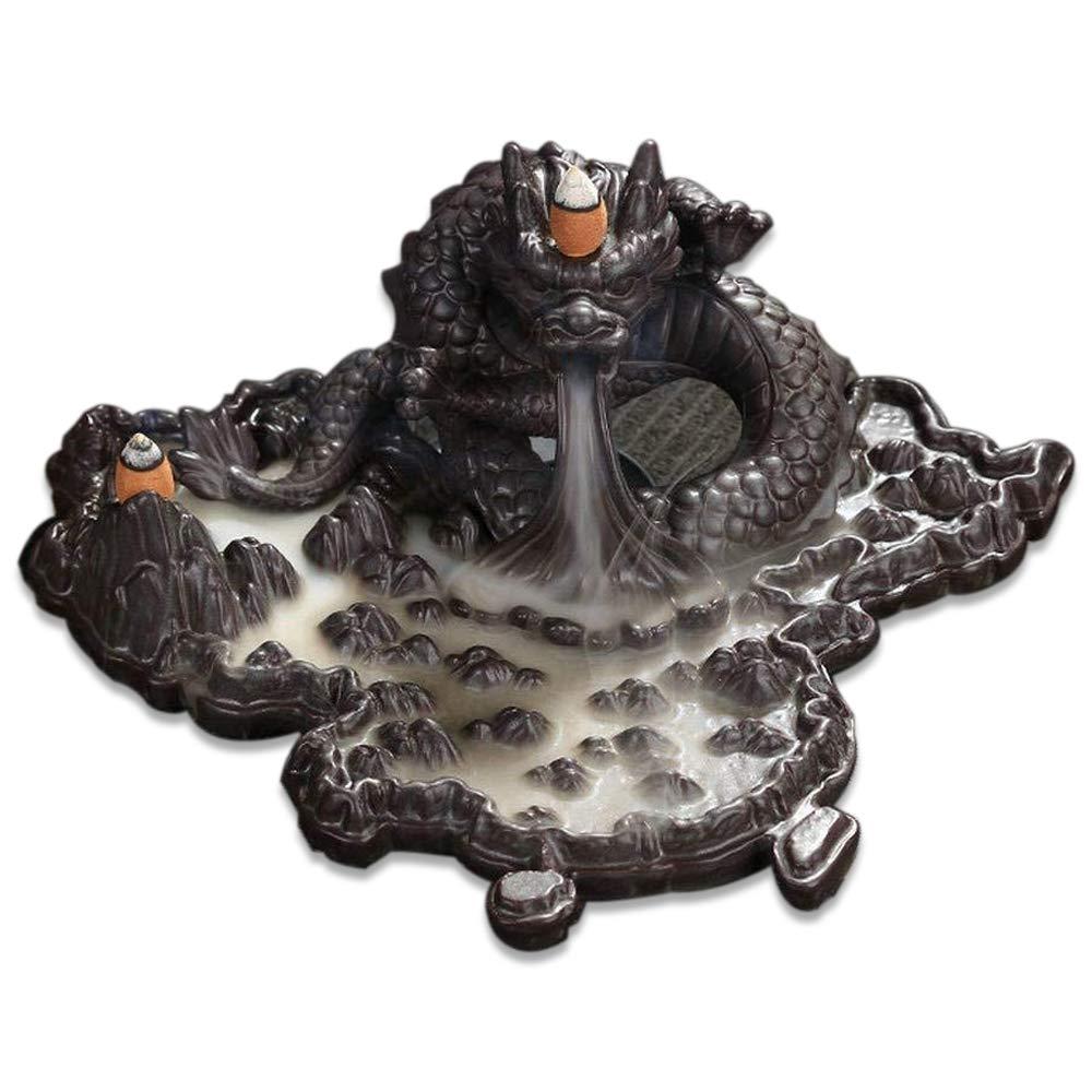 Tongyou Dragon Incense Burner Holder Ceramic Desktop Decoration Home. Crafts Yoga Gift by Tongyou (Image #1)