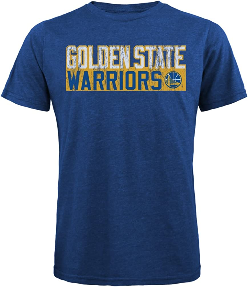 Majestic Athletic NBA Golden State Warriors Mens Premium Tri Blended Crew Tee Royal XX-Large