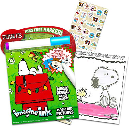 Peanuts Snoopy Christmas Coloring and Activity Book Set for Kids Toddlers -- Peanuts Mess Free Coloring Book Filled with Games, Puzzles, Mazes and More (Includes Magic Pen and Stickers) (Christmas)