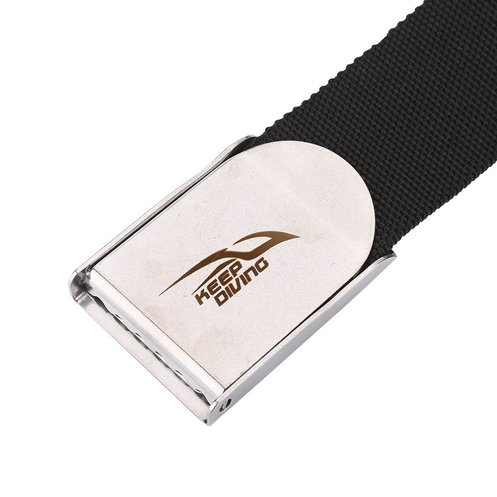 Diving Weight Belt Stainless Steel Buckle Snorkeling Diving Weight Webbing Waist Belt for Free Diving