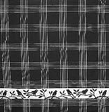 Mierco Fine European Linens 8S-BirdsBlack Birds Square Tea Towel, 26 by 26-Inch, Black/White