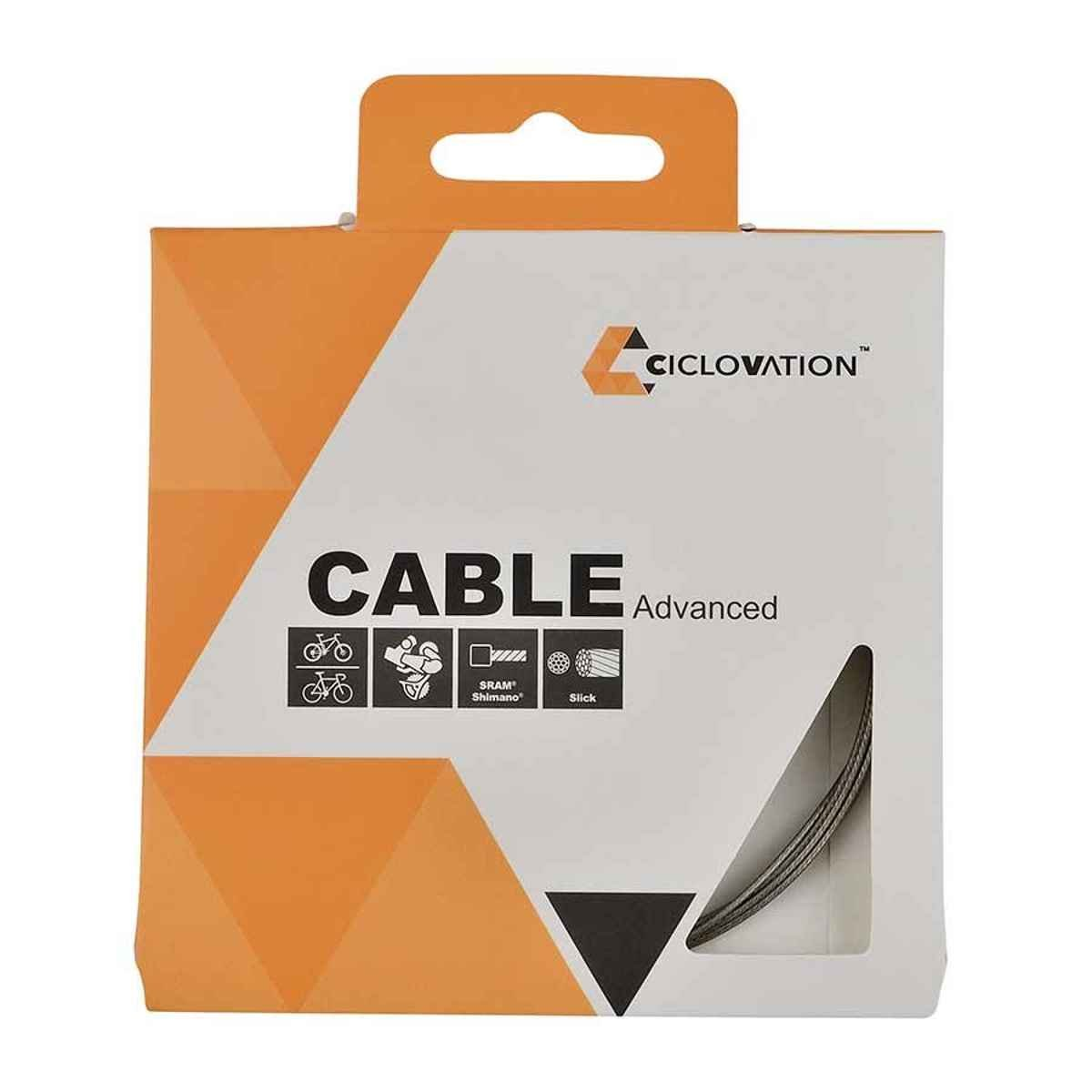 Ciclovation, Nano Slick, Shift cable, 1.1mm, Stainless Steel, Slick, 2100mm, Shimano, Box of 20
